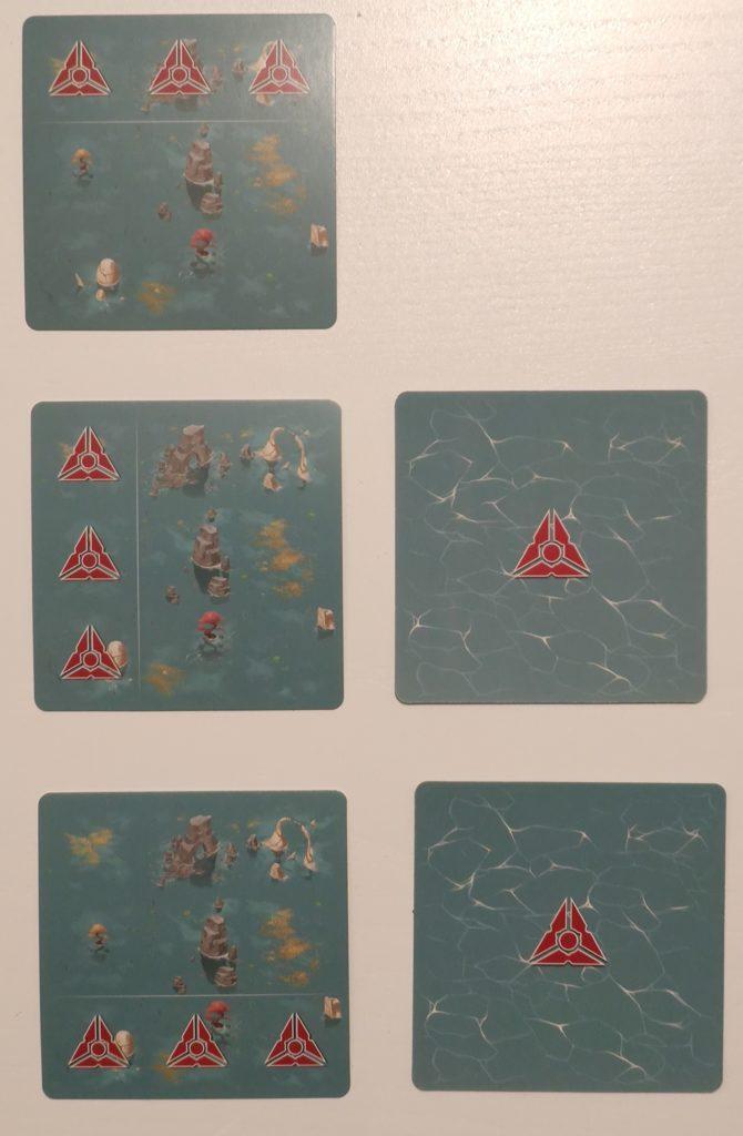 Mise en place des cartes affrontement en début de partie