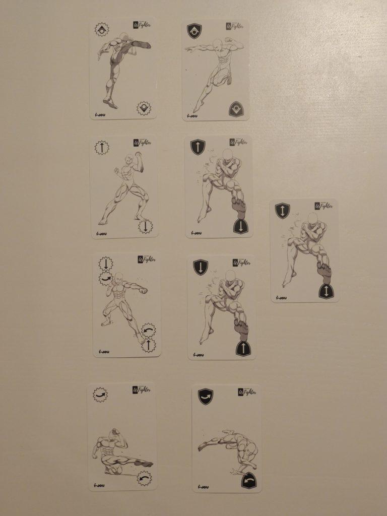 L'ensemble des cartes d'attaque et défense