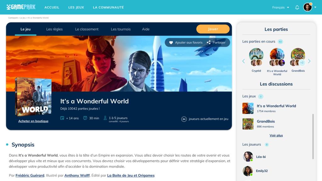 Le site de GamePark